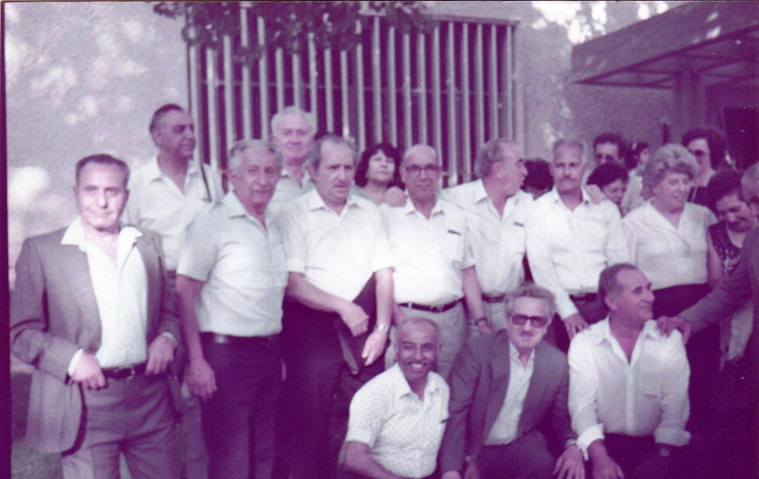 טקס חלוקת אות אסורי המנדט 20.05.1984 - סלבטור גרשון עומד רביעי משמאל