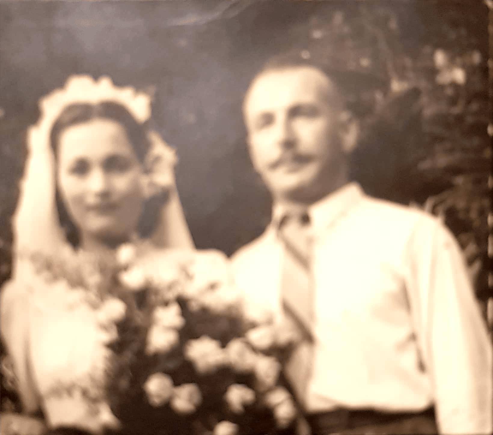 מרוז אריה ביום חתונתו עם רות