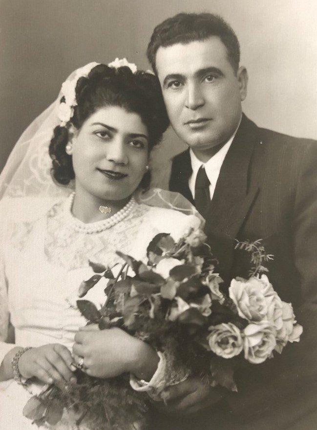 ויקטוריה מזרחי ועמנואל שכמורוב ביום נישואיהם