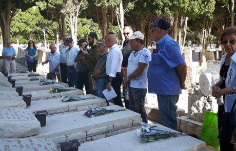"""טקס לציון 71 שנה לפעולת לח""""י בבתי המלאכה של הרכבת בחיפה"""